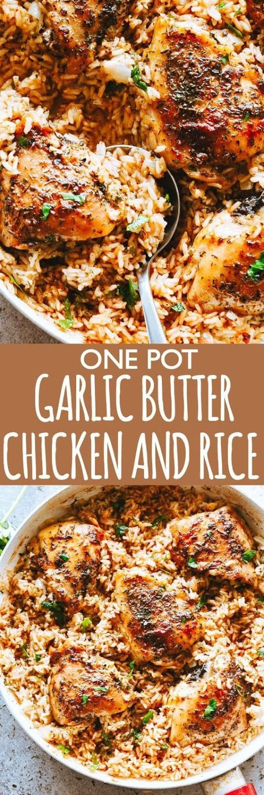 Garlic Butter Chicken and Rice Recipe #dinner #chicken #rice