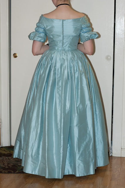 Late 1830s Ball Gown back view