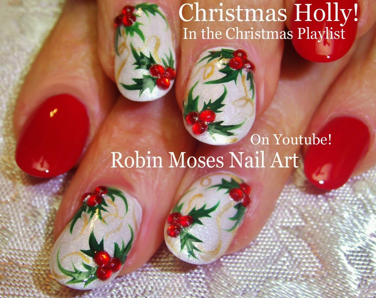 "Nail Art by Robin Moses: ""Christmas nails"" ""Xmas Nails ..."