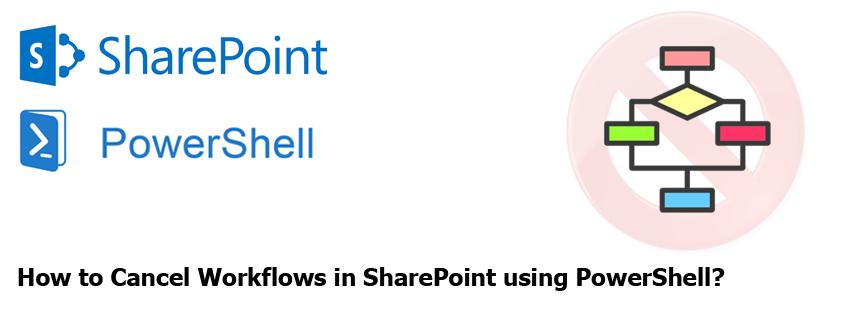 terminate workflow in sharepoint using powershell
