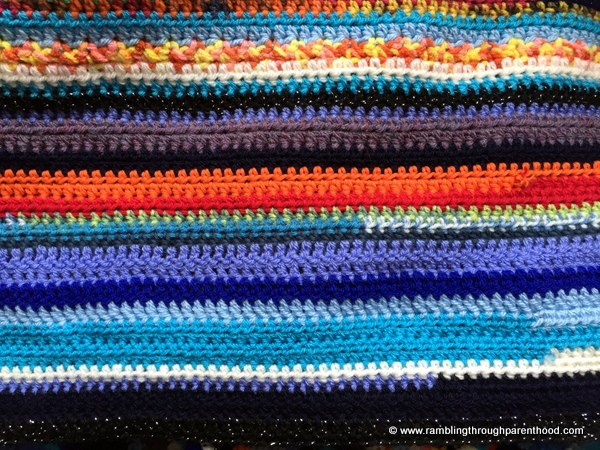 Details of this month's crochet pattern in my Sky Blanket