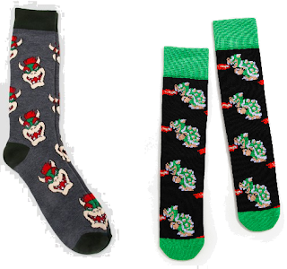 Bowser socks face sprite
