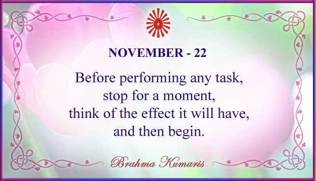 Thought For The Day November 22