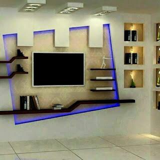 صور جبس ديكورات tv