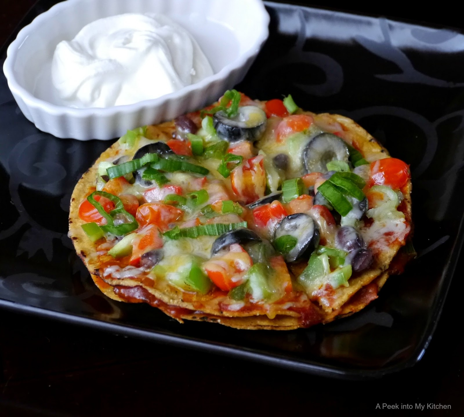 Semi-homemade Vegetarian Mexican Pizza ~ Day 111