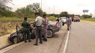 Ocurre accidente en la salida de Romana San Pedro de Macorís en la Autovía del Este.