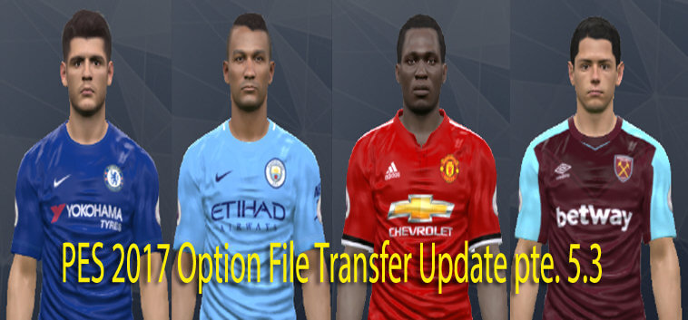 PES 2017 Option File Update Transfer PTE Patch 5.3 (28 July 2017)