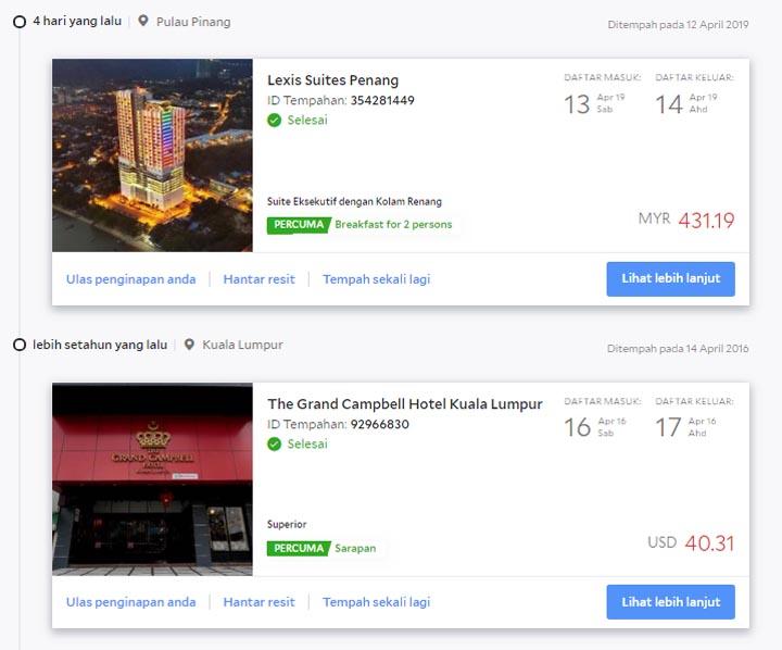 Tempah online di Agoda dan dapatkan wang ganjaran
