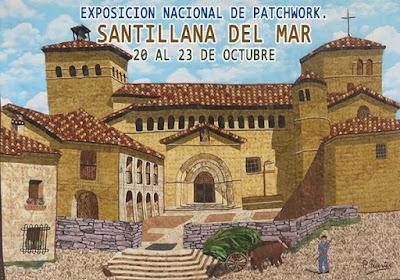 exposición nacional de patchwork en santillana del mar