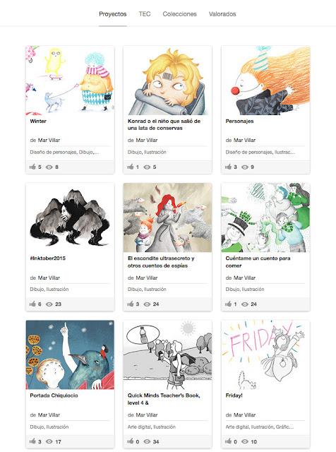 Behance, portfolio, Mar Villar, proyectos, ilustracion