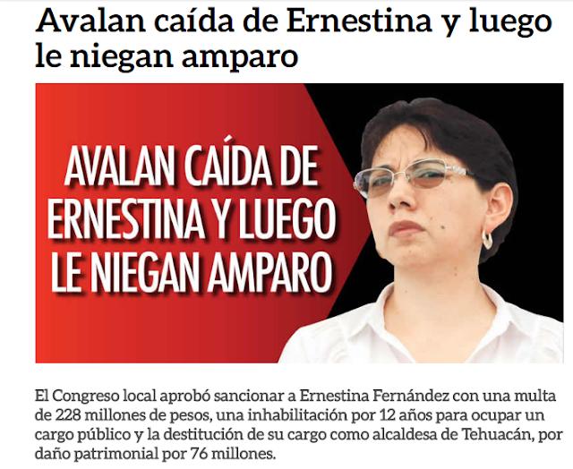 228 millones de multa a presidenta de Tehuacán