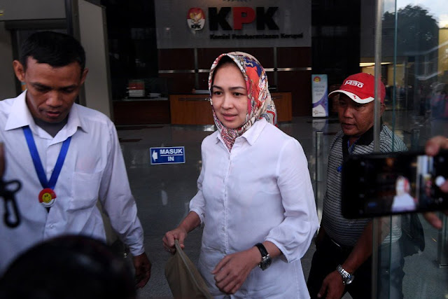 Walikota Tangsel Airin Rachmi Enggan Berkomentar Usai Diperiksa KPK