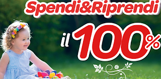 Logo Carrefour : Spendi&Riprendi il 100%