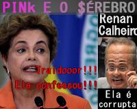 Renan calheiros diz que Dilma é corrupta, pink e o cérebro