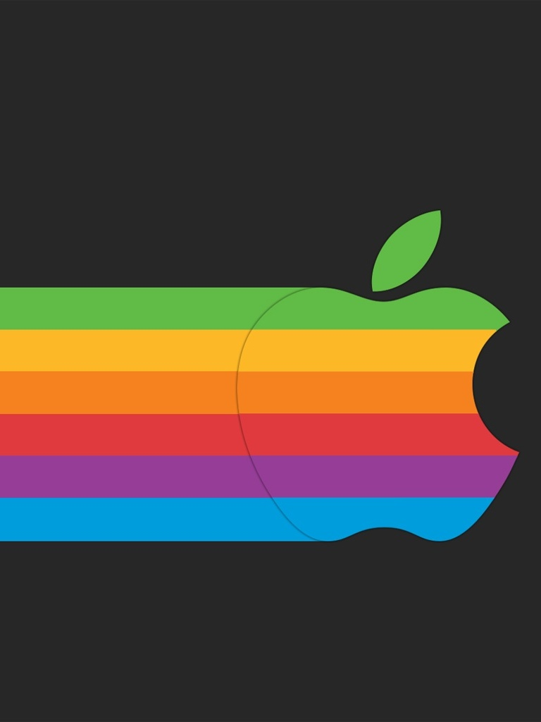 Rainbow colored apple logo for ipad mini free ipad for Immagini apple hd