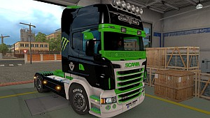 Scania RJL Monster Energy skin by LazyMods