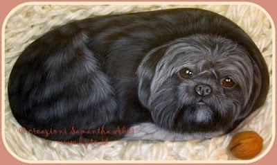 sassi dipinti a mano prezzi cani ritratti