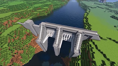 Cara Membuat Bendungan di Minecraft, Crafting, Cara Main Minecraft,