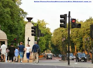 Semáforo para jinetes, cercano a Hyde Park.