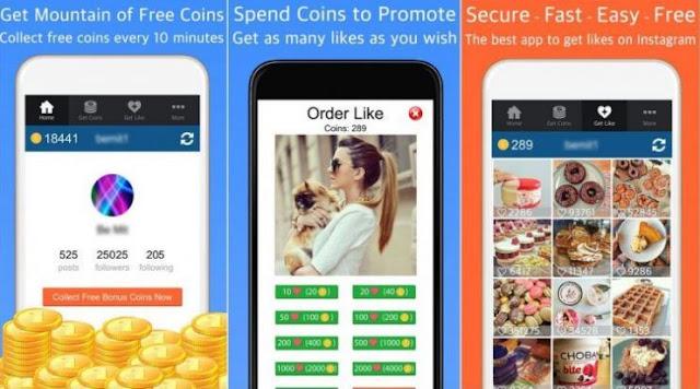 Aplikasi Penambah Like Instagram di iOS iPhone