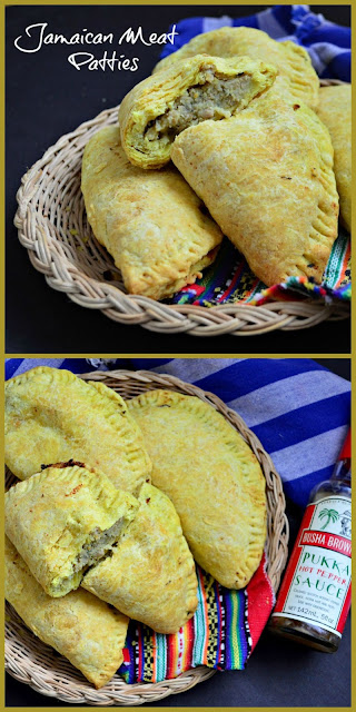 Jamaican Meat Patties are made with a curry pastry that is very flaky. The filling has some heat, but is just right. If you've ever visited Jamaica this recipe is about as close as you'll get to the real ones! #meatpies #Jamaicanfood #savorypies www.thisishowicook.com