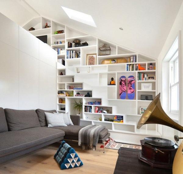 8 scale con libreria case e interni - Scale per librerie ...