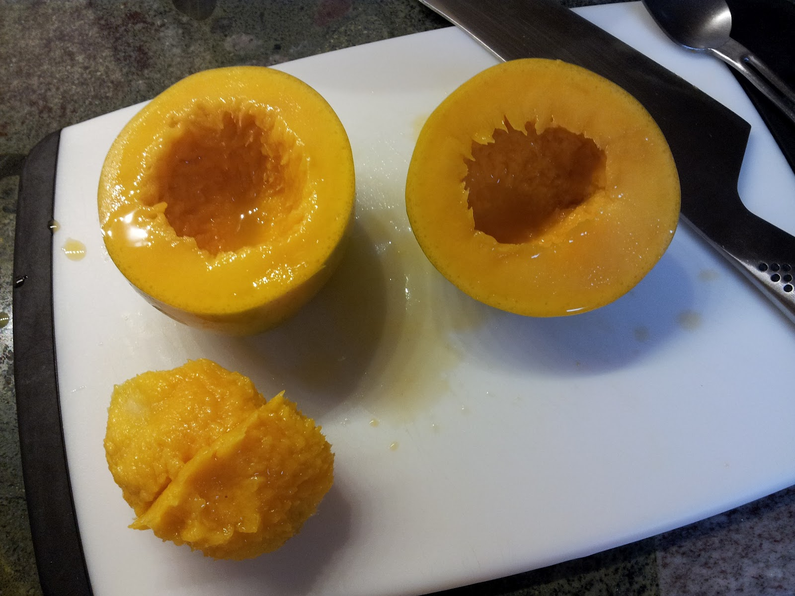 att skära mango