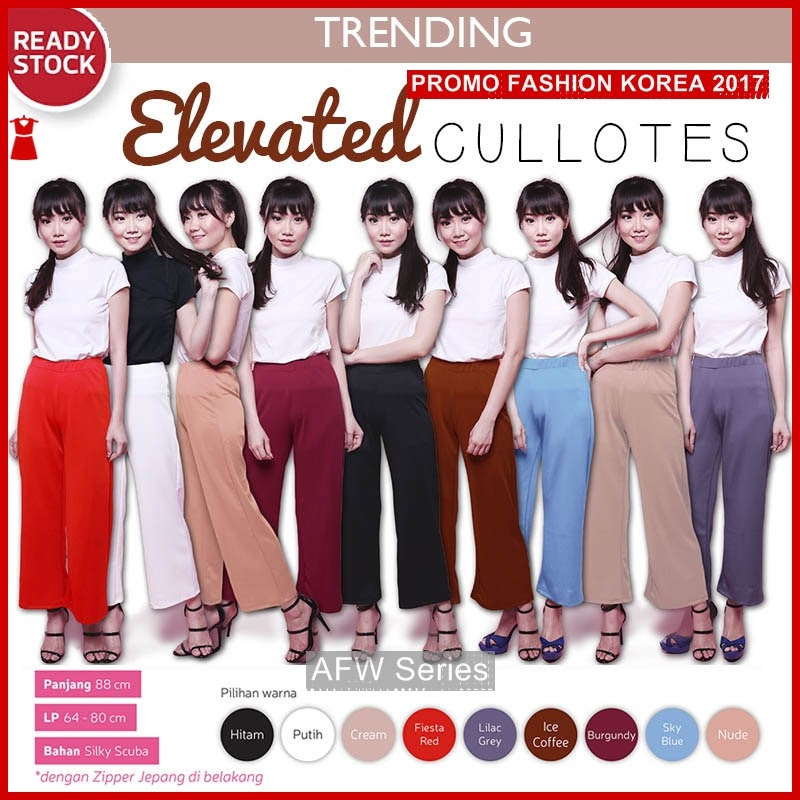 BAMFGW163 Elevated Celana Kulot Wanita PROMO