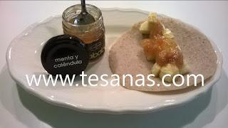 Creps de te verde receta realizada por TeSana