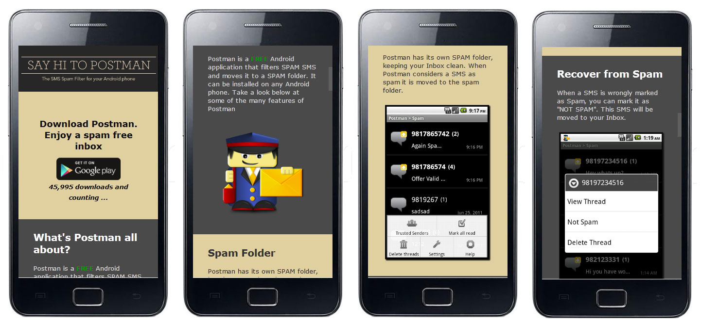 Postman: The SMS Spam Blocker For Android: May 2012