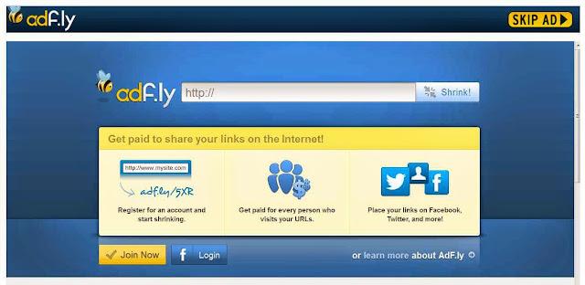 Cara Dapatkan Uang dari FB, Twitter dan SosMed dari Adf.ly