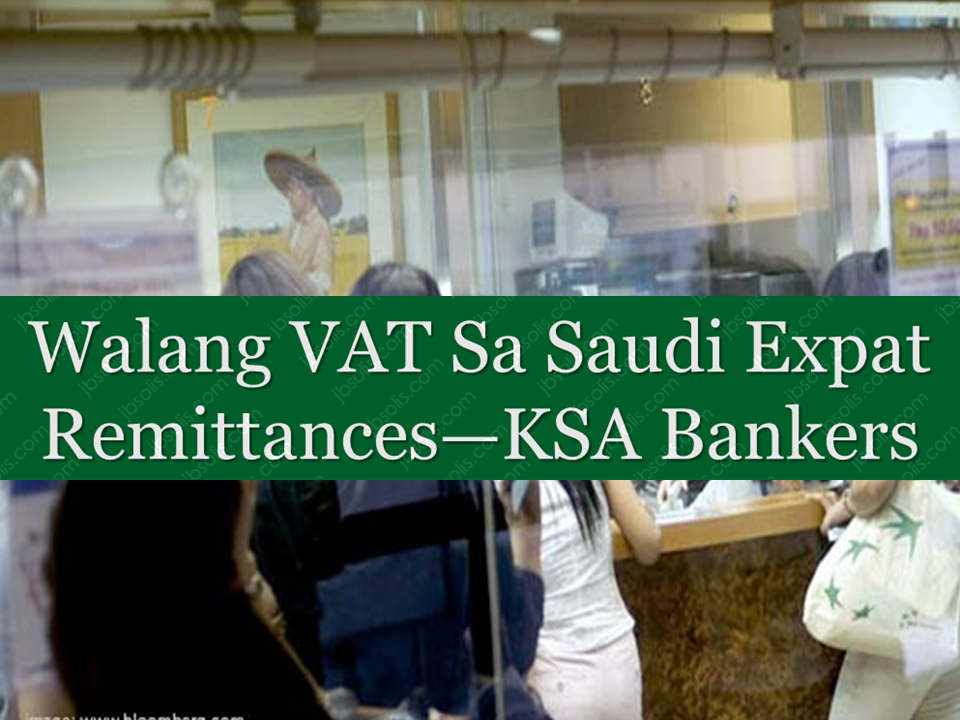 "There has been a clarification from the bankers in saudi arabia that there will be no VAT for the money that will be sent to their families by expats in the kingdom. Under the new VAT reform initiative set to be launched on January 1, 2018 by the government of Saudi Arabia. Senior bankers clarified on Sunday that VAT will be implemented on the cash remittance charges and not on the to tal amount of the remittance.  Saudi Arabia's General Authority for Zakat and Income Tax (GAZT) has urged businesses with annual revenues of more than SR1 million ($266,640) to register for VAT before the deadline of Dec. 20, 2017. ""The deadlines for companies with annual revenues between SR1 million and SR375,000, however, has been extended by a year until Dec. 20, 2018,"" according to a GAZT statement. ""All businesses including commercial organizations and banks have been advised to make sure they understand the VAT rules and be ready for their implementation after 15 days from now,"" said Syed Ahmed Ziauddin, a senior banker who heads the financial institutions and public sector group at Bank Al-Jazirah in Riyadh. He said: ""Aljazirah Bank is fully ready to start from Jan. 1 ... and we are going to apply VAT on our service charges."" Sponsored Links  He said that all commercial banks have geared themselves to comply with the VAT regulations. ""The banks have also educated their customers about VAT besides advising them about various services that will come under the purview of VAT,"" said Ziauddin, while adding that the remittances will not be taxed under the VAT system. ""Money remittance outflows will be exempted,"" said Abdullah Ali Nasser Alfuraiji, chief of the Tahweel Al-Rajhi in Riyadh. Alfuraiji made it clear that ""the 5 percent VAT tax would be levied on the remittance service fees, rather than the remittances themselves. He emphasized that ""Tahweel will be charging 5 percent of SR18, which we charge as remittance fee for sending funds to India. Hence, the rise will be nominal with customers required to pay 9 halalas extra for remitting money to India."" The Tahweel chief added that this will be negligible, but will differ from country to country. Referring to the implementation of the VAT and the levies imposed on remittances, Ahmed Mohammed Al Enazi, general manager of Enjaz Banking Services, the remittance arm of Bank Albilad, said: ""There will not be any impact on remittances."" He also confirmed that ""5 percent VAT will be imposed on service charges... say like 5 percent of SR16 in case of India and 5 percent of SR20 in case of Pakistan."" ""The 5 percent on banks' service fees will be paid by the person sending money as per guidelines of the General Authority of Zakat and Tax (GAZT),"" said Ahmed. Banks and remittance centers in the Kingdom charge varying fees on remittances sent to different Asian and European countries. The imposition of 5 percent VAT ""on service charges, not on remittance amounts"" was also confirmed by Anwar Ahmed Wajid Khajja, manager of products and partners at Fawri, the remittance wing of Bank Aljazirah in Riyadh. Referring to the benefits of VAT especially those collected by banks and remittance centers, Cenon Nonie C. Sagadal Jr., marketing representative of Rizal Commercial Banking Corporation (RCBC) of the Philippines, said: ""VAT is a welcome move with a slight increase in remittance fees, which will eventually benefit the remitters and the institutions. ""With the government meeting its financial goals as a result of VAT collection, more employment opportunities will be created not only for Saudis but also for expatriates within the framework of the Saudi Vision 2030."" Source: Arab News      Advertisement  Read More:                   ©2017 THOUGHTSKOTO  www.jbsolis.com"