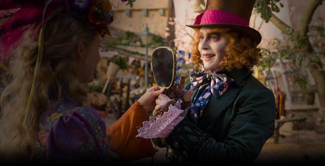 """Segundo trailer e vídeo musical de """"Alice Através do Espelho"""", com Johnny Depp e Mia Wasikowska"""