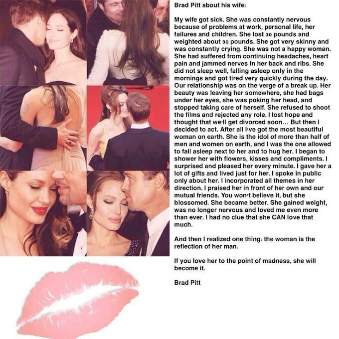 Inspiring story A true story of Brad pitt and Angelina jolie on their Relationships