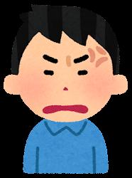怒る男性のイラスト(段階3)