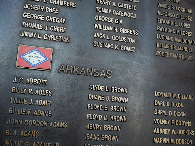 names of service persons from Arkansas who died in the Korean War