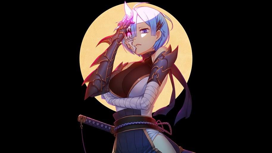 Rem Ninja Anime Girl Re Zero 4k Wallpaper 4 2758