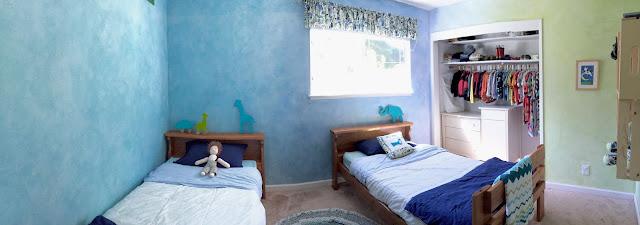 lazure, boy's room, waldorf walls