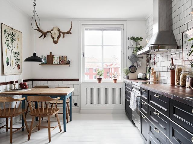 rustykalna kuchnia, kuchnia w stylu rustykalnym