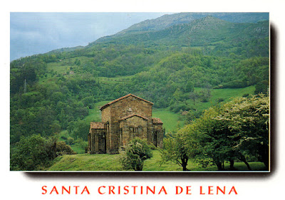 Santa Cristina de Lena. Postal Moro, 1998