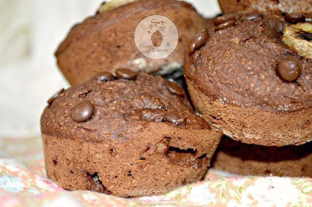 Munffins Vegano de Chocolate y Plátano