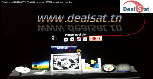 Tutoriel install AMAZON TV IPTV m3u file on starsat sr 2000 Hyper-2020 Super- 8800 hyper