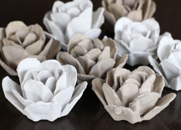 Cómo Hacer Flores Reciclando El Cartón Del Empaque De Huevos Lodijoella