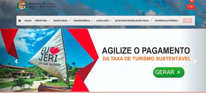 Taxa de turismo em Jericoacoara: como gerar e pagar o boleto  - Site da Prefeitura de Jijoca