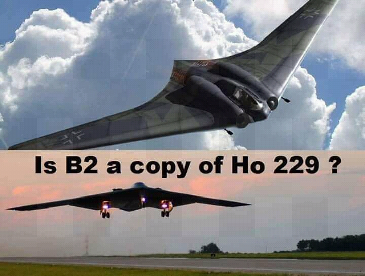 Green Patriots: Is B-2 stealth bomber a copy of German Ho 229?