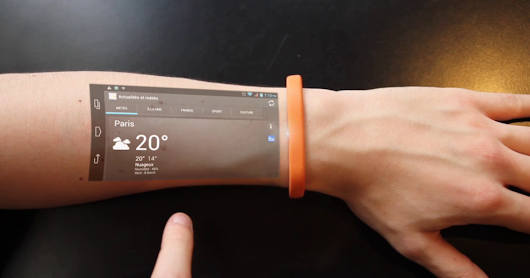 smartphone coming in 2017 - The Cicret Bracelet-types of touch screen