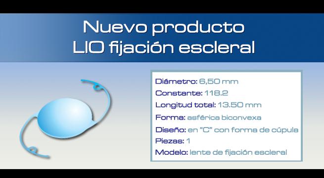 Nuevo producto - Lente intraocular de fijación escleral Genius