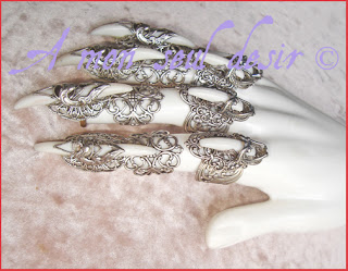 bague griffe gothique gothic goth claw ring