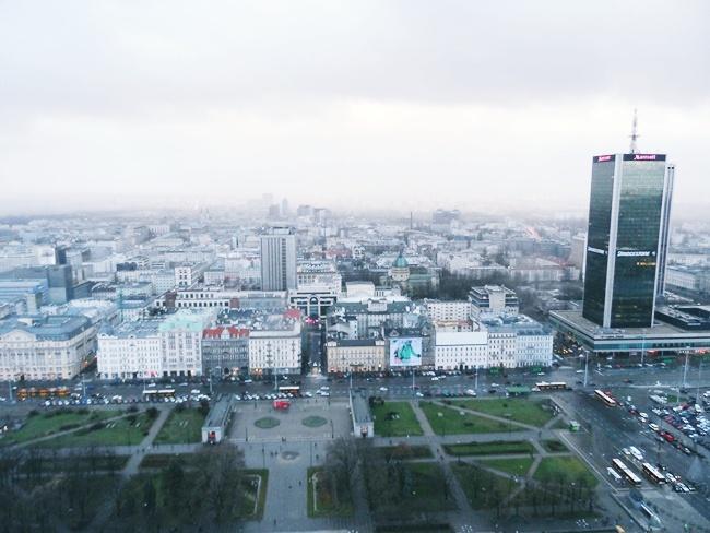 pogled sa Palate kulture i nauke,Varsava,Poljska