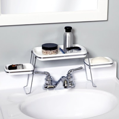 This shelf keeps the area around your sink tidy